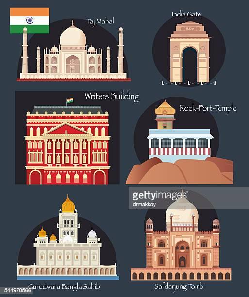 ilustrações, clipart, desenhos animados e ícones de índia símbolos - índia