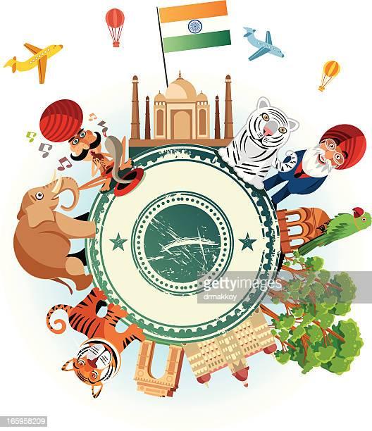 ilustrações de stock, clip art, desenhos animados e ícones de índia viagens mulher - naja