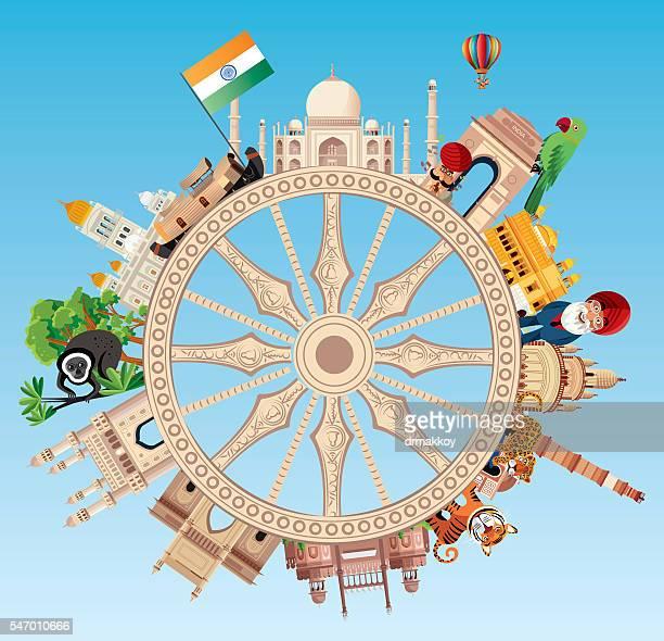 india travel - india stock illustrations, clip art, cartoons, & icons