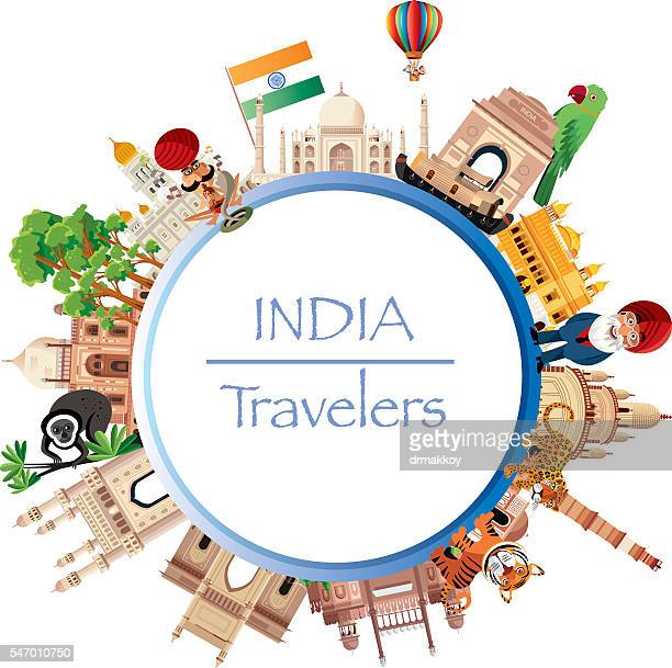 india travel - india gate stock illustrations