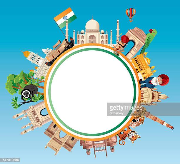 india travel - punjab india stock illustrations