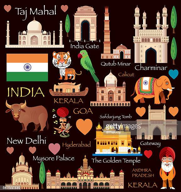 india travel - indian elephant stock illustrations