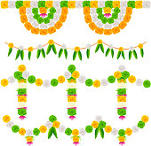 India Tricolor Flower Decoration