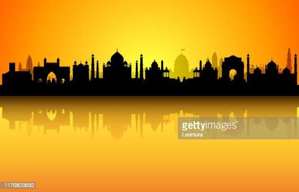 ilustrações de stock, clip art, desenhos animados e ícones de india (all buildings are complete and moveable) - agra jama masjid mosque