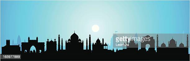 india (buildings are detailed, moveable and complete) - monument stock illustrations