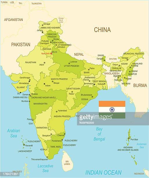 indien - nepal stock-grafiken, -clipart, -cartoons und -symbole