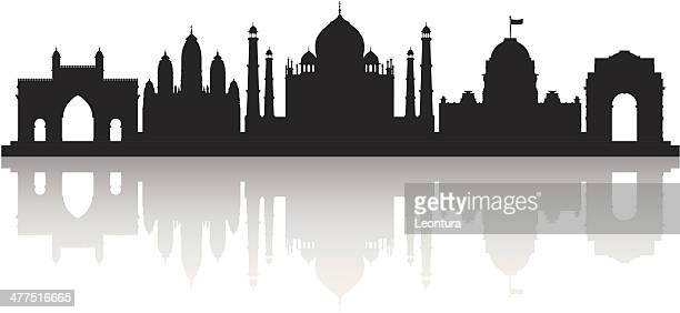 india (each building is moveable and complete) - mumbai stock illustrations