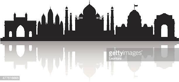 ilustrações, clipart, desenhos animados e ícones de índia (cada edifício é móvel e completa) - taj mahal