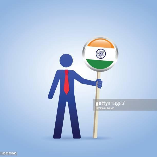 india - national landmark stock illustrations