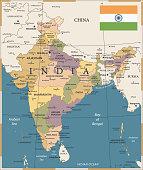 20 - India - Vintage Color Dark