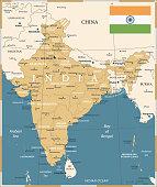 22 - India - Vintage Golden Dark 10