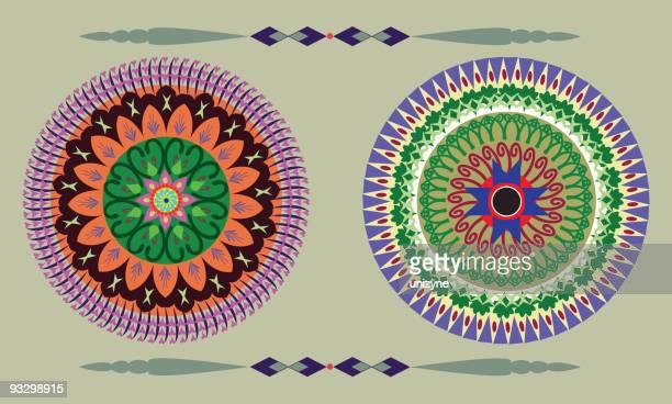 Indian Circular Design Element
