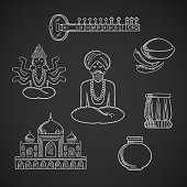 Indian culture and religion icons