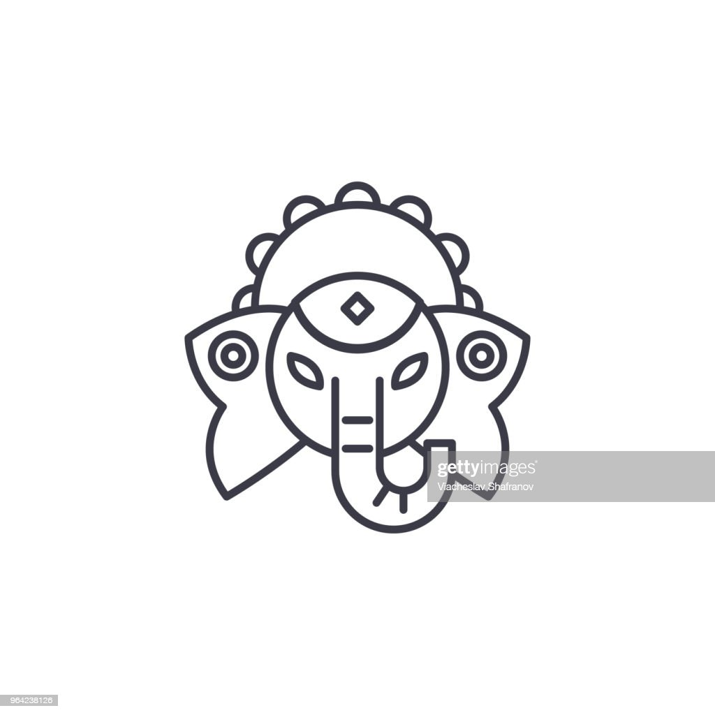 Indian deity linear icon concept. Indian deity line vector sign, symbol, illustration.