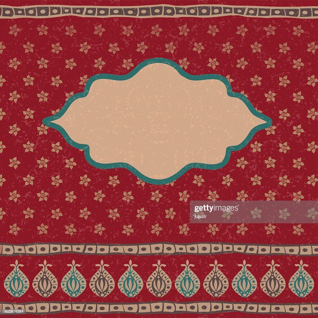 Indian ethnic arabian oriental background with grunge effect