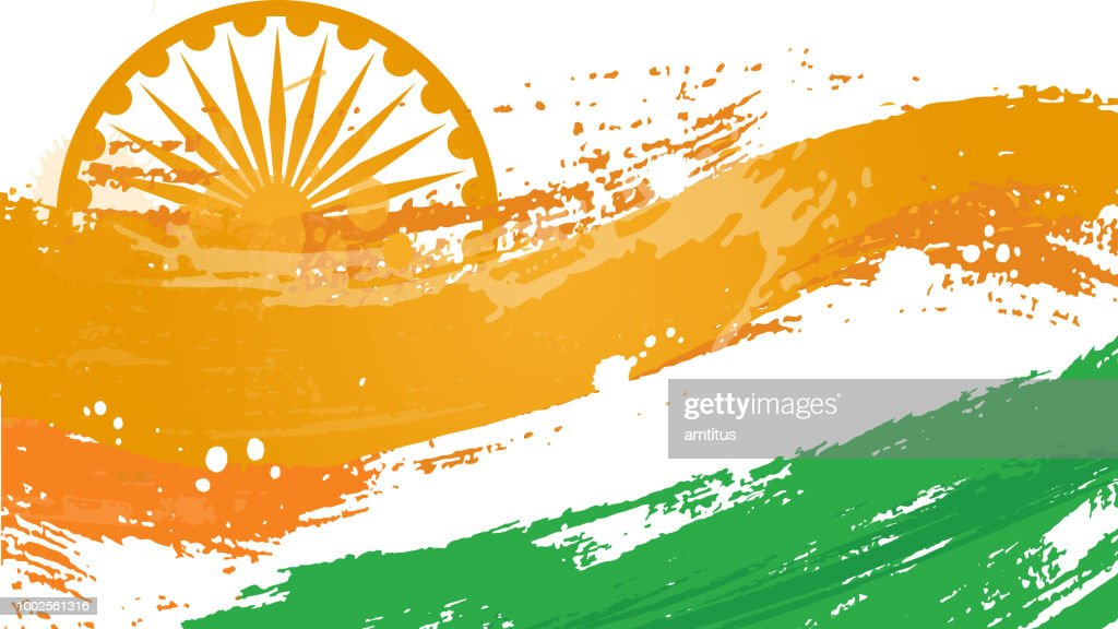 indian flag abstract : stock illustration