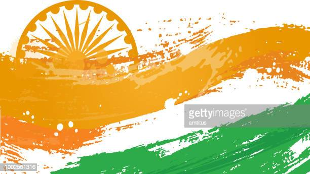 indian flag abstract - indian flag stock illustrations