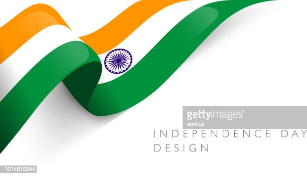 indian flag glossy - august stock illustrations