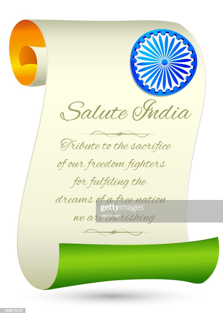 Indian Flag on Independence Day Background