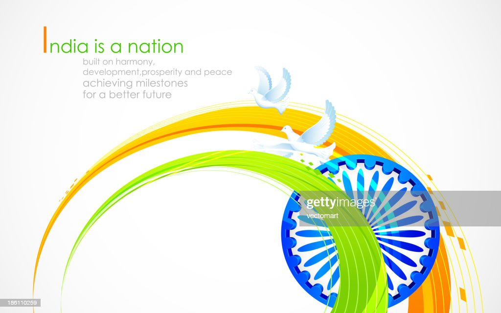 Indian flag tricolor with Ashok Chakra