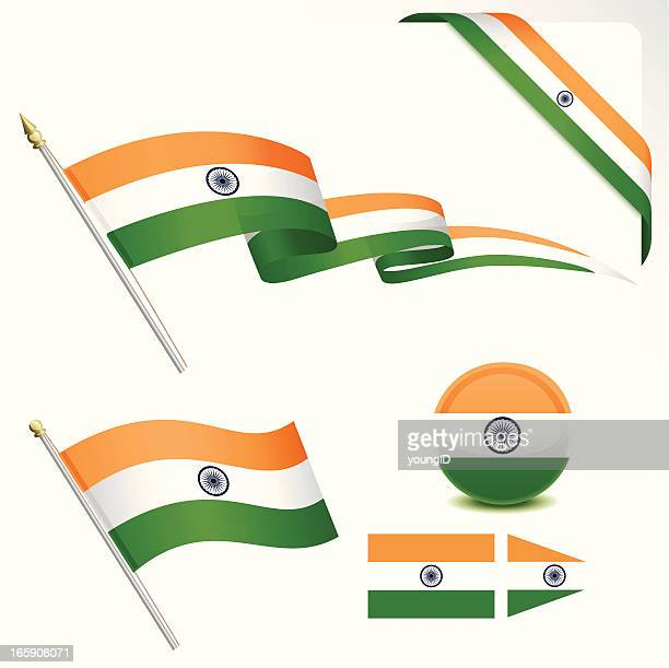 indian flag - indian flag stock illustrations