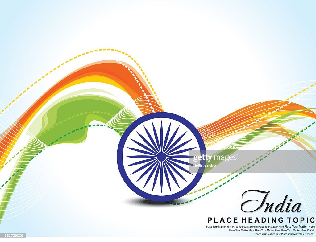 Indian Flag wave background with ashok chakra