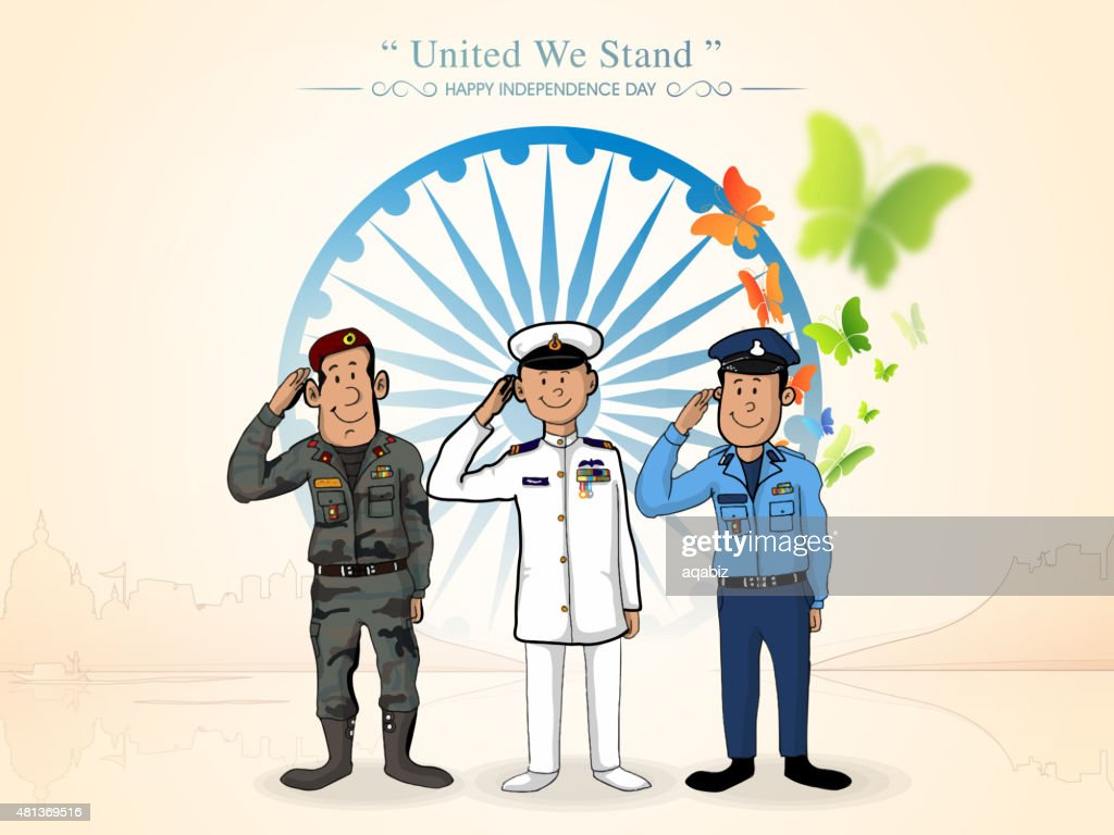 Indian force officers for Independence Day.