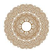 Indian henna mehendi ornament