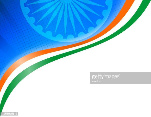 indian independence day corner - indian flag stock illustrations