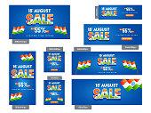 Indian Independence Day, Social Media Set.