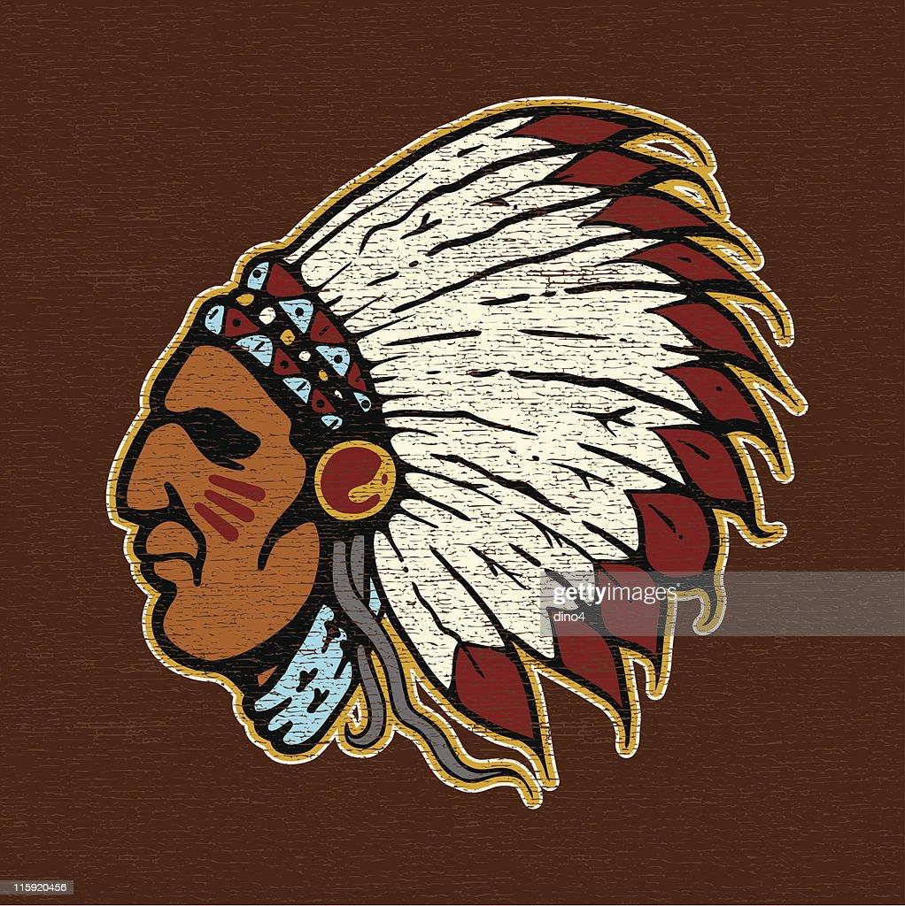 indian Joe Logo 戦士 : stock illustration