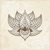 Indian Lotus. Arabic and Jewish amulet