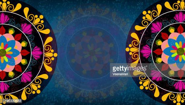 indian mandala design - mandalas india stock illustrations