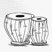 Indian musical instrument tabla.