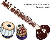 Indian musical instruments - sitar and tabla