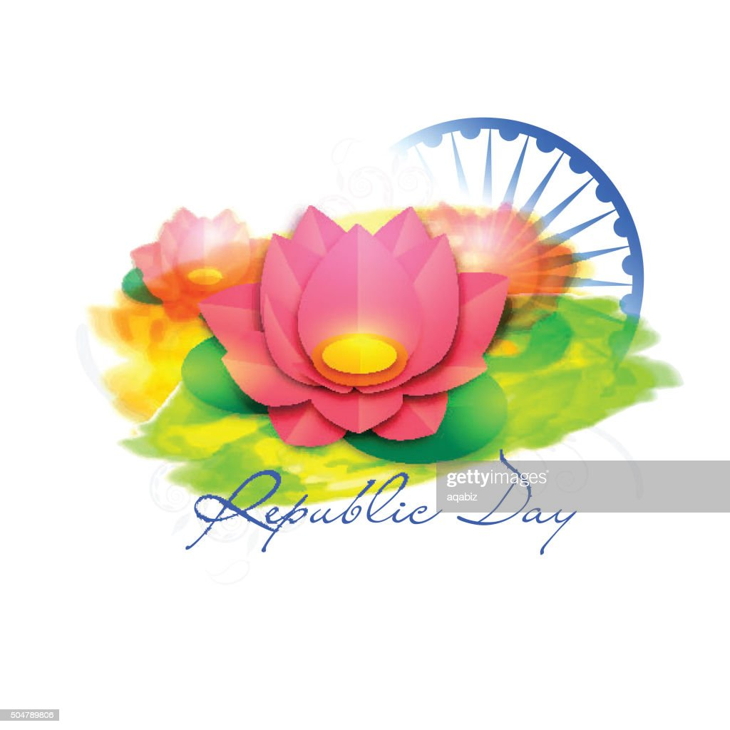 Indian National Flower for Republic Day celebration.