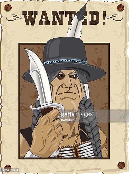 ilustraciones, imágenes clip art, dibujos animados e iconos de stock de indian outlaw - indios americanos sioux