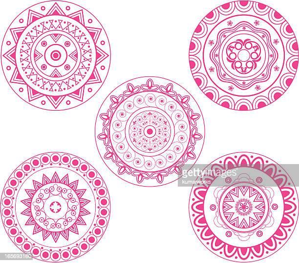 Indian rangoli design