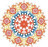Indian Rangoli Pattern Vector Art