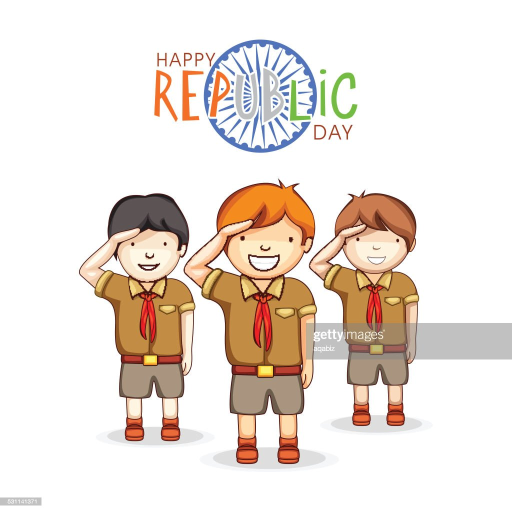Indian Republic Day celebration with cute kids.