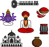 Indian travel and culture elements
