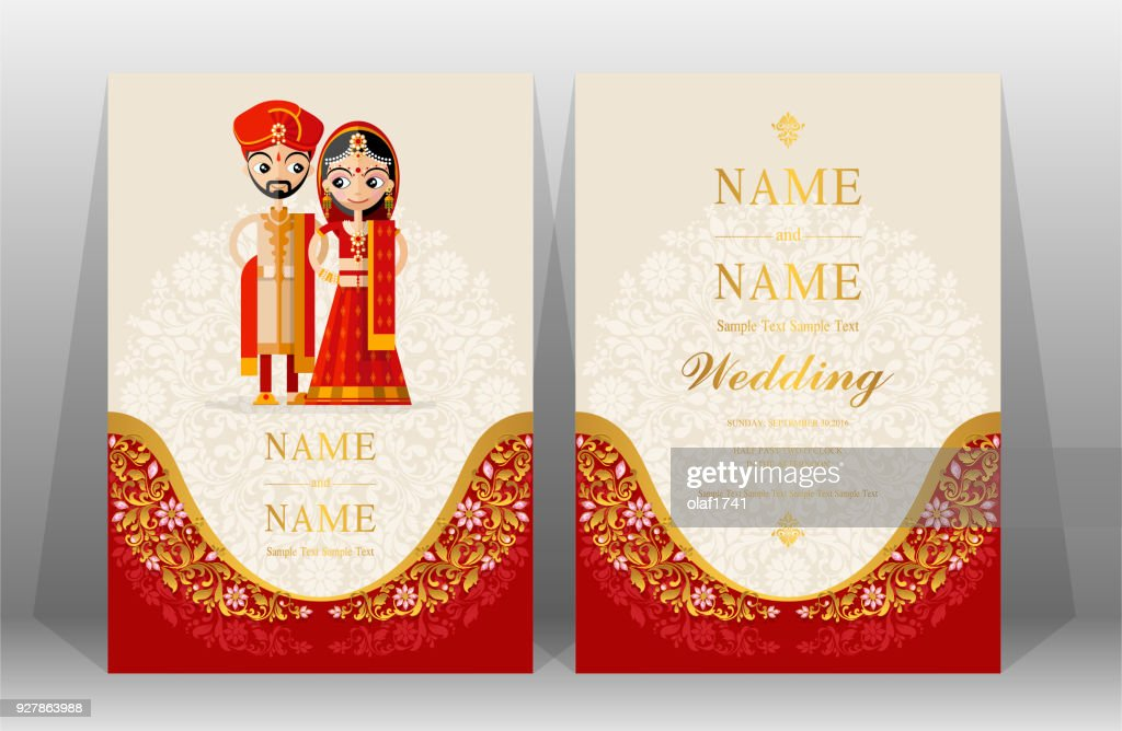 Indian Wedding Invitation Card Templates With Indian Man And