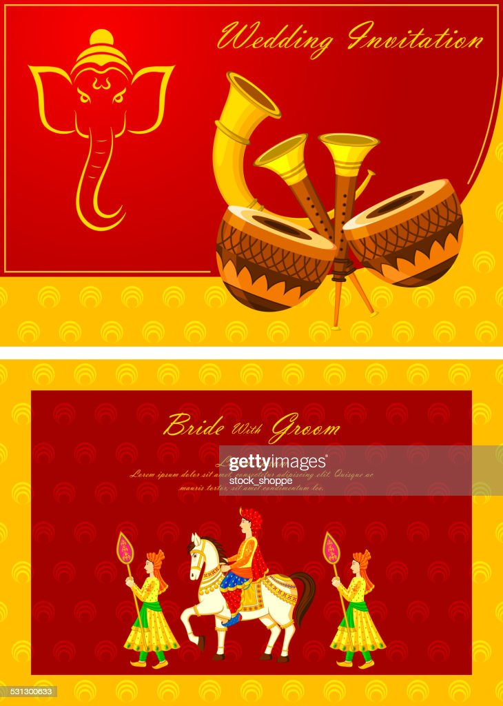 Indian Wedding Invitation Card Vector Art | Getty Images