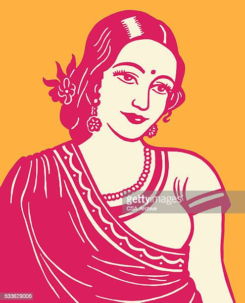 indian woman - india stock illustrations