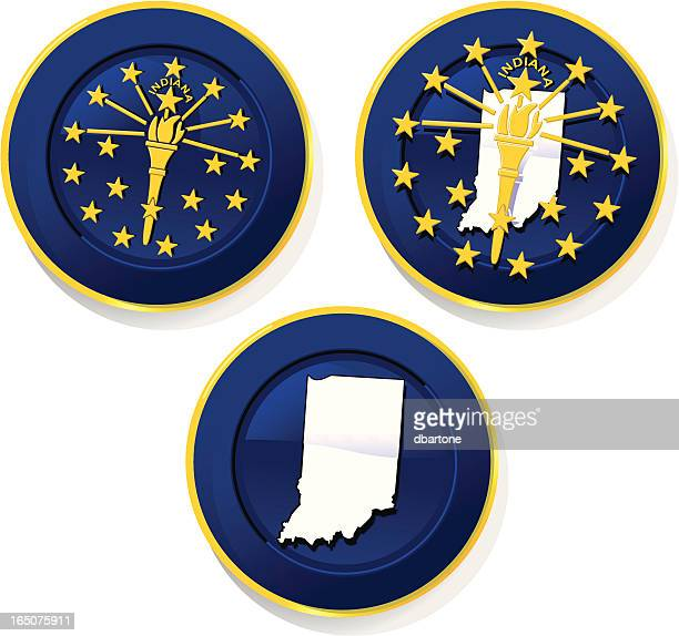 indiana badges - indianapolis stock illustrations, clip art, cartoons, & icons