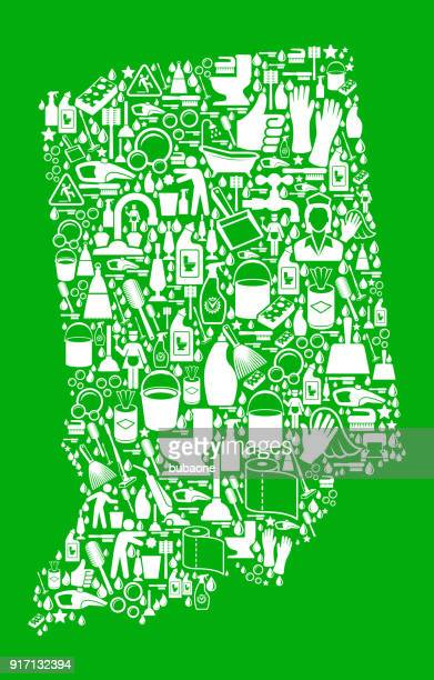 indiana cleaning and chores green vector icon pattern - paper towel stock illustrations, clip art, cartoons, & icons