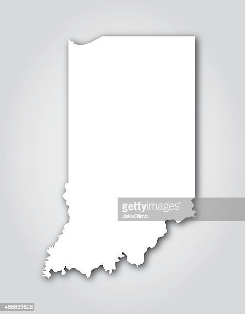 indiana silhouette white - indianapolis stock illustrations, clip art, cartoons, & icons