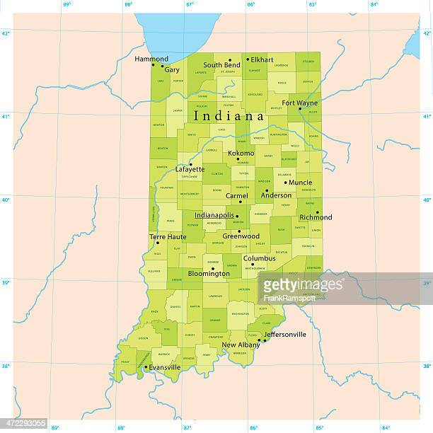 Indiana Vector Map