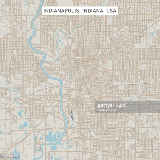 indianapolis indiana us city street map - indianapolis stock illustrations, clip art, cartoons, & icons