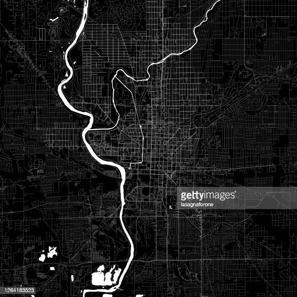 indianapolis, indiana vector map - indianapolis stock illustrations